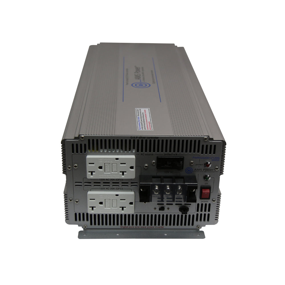 AIMS Power PWRIG500012120S | 5000W Pure Sine Power Inverter - Industrial Grade