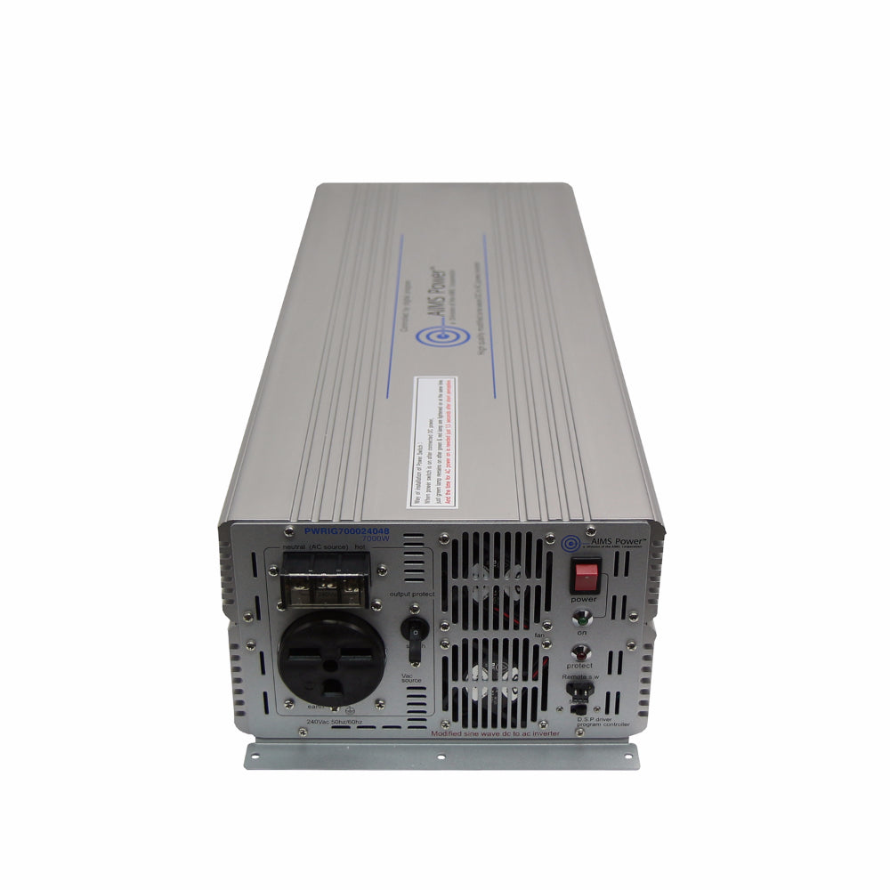 AIMS Power PWRIG700024048 | 7000W 48 VDC Modified Sine Power Inverter - Industrial Grade