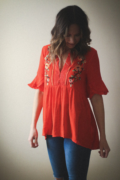 Ruby Embroidered Top