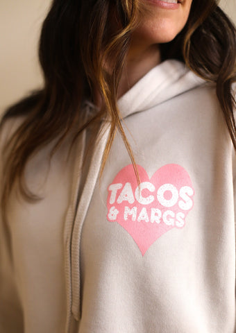 Tacos and Margs Cropped Hoodie