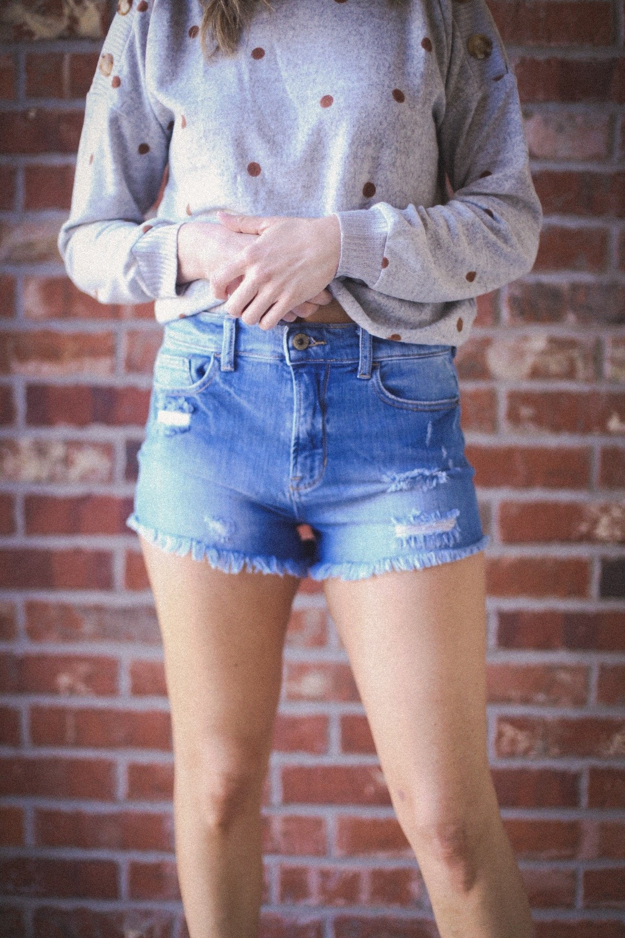 Bailey Distressed Jean Shorts