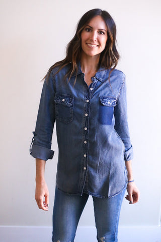 Addison Denim Button Up