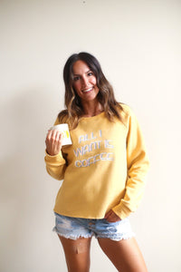 All I Want is Coffee / All I Need is Wine Reversible Graphic Sweatshirt