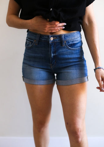 Dominic High Rise Jean Shorts