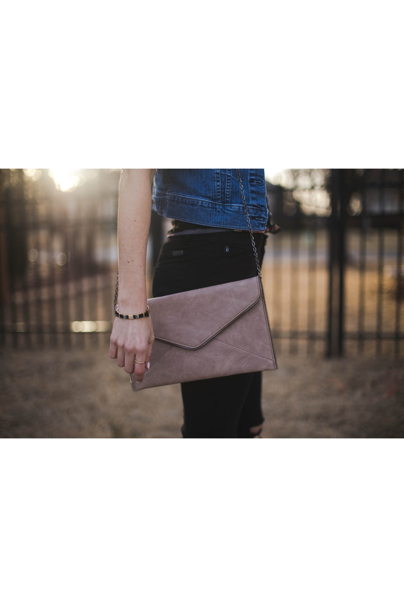 Zipper Edge Clutch
