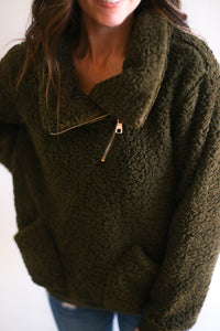 Grant High Neck Sherpa Pullover