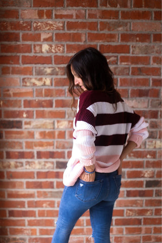 Julia Wide Stripe Sweater