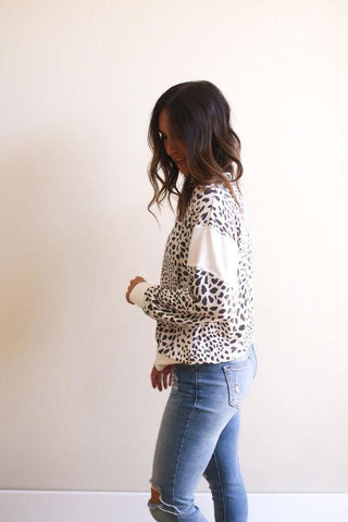Kylie Long Sleeve Dot Top