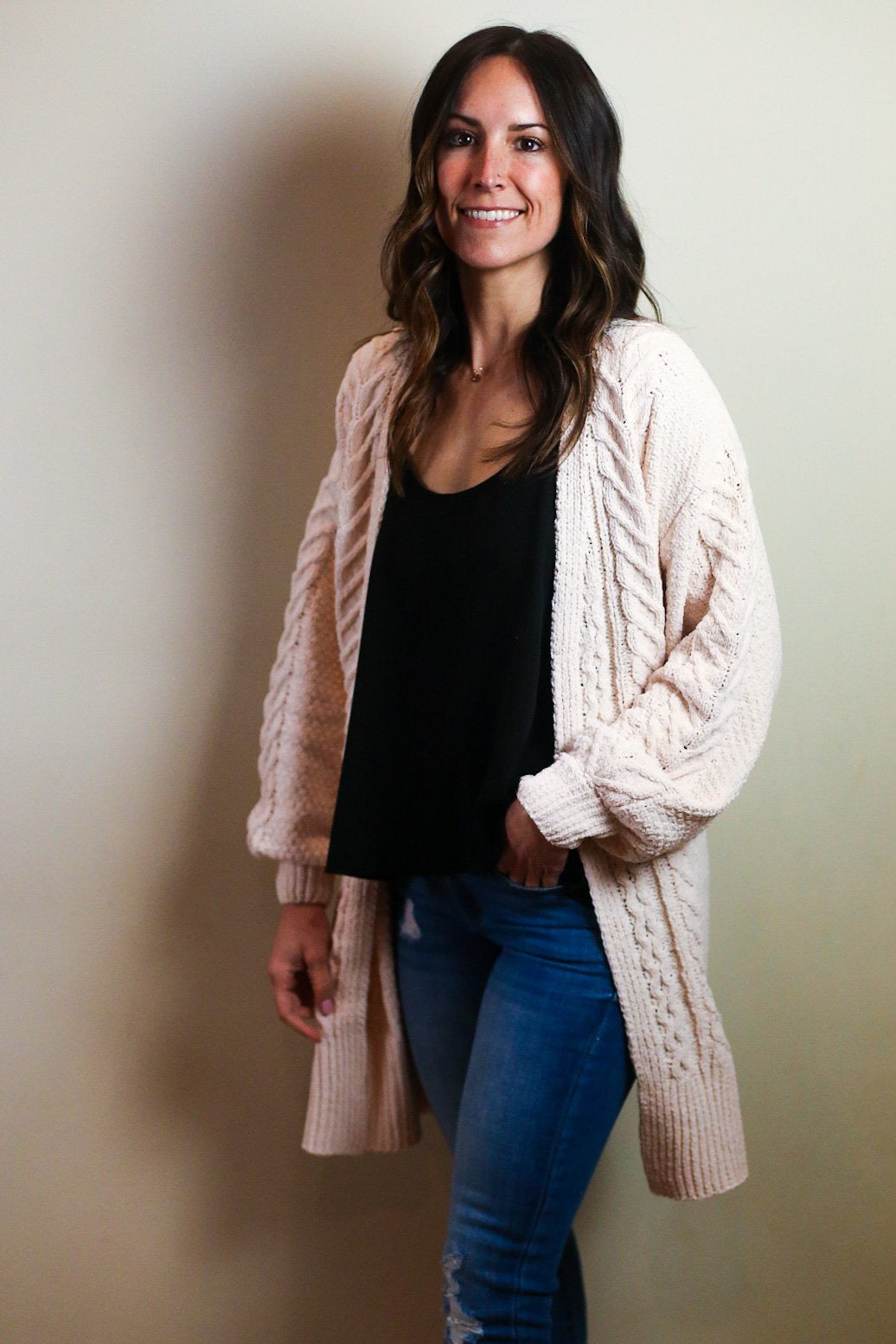 Larken Chenille Cardigan - 2 Color Options