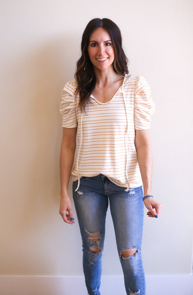 Marigold Striped Top