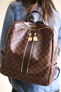 Murphy Checkered Book Bag