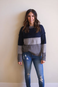 Nathan Color Block Sweater