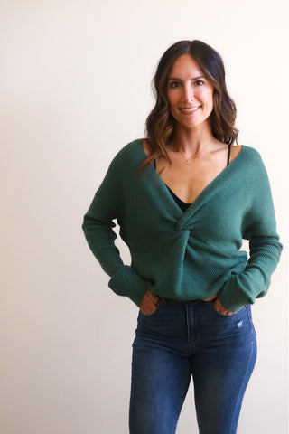 Piper Twist Front Sweater