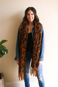 Stella Animal Print Long Scarf