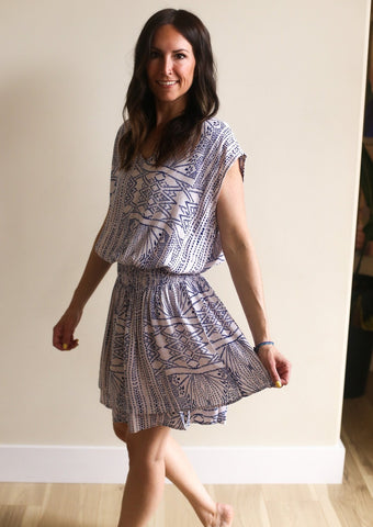 Veronica Aztec Print Dress