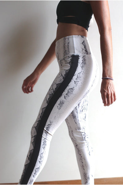 Python Striped Leggings