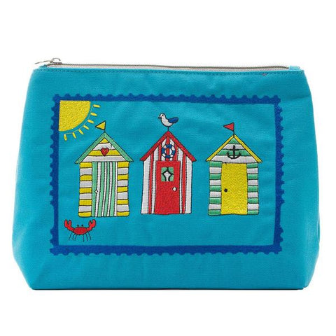 Beach Huts Toiletry Bag Turquoise
