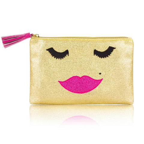 Beautiful Lady Glitter Bag in Gold