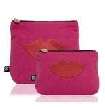 Luscious Lips Wash Bag in Pink