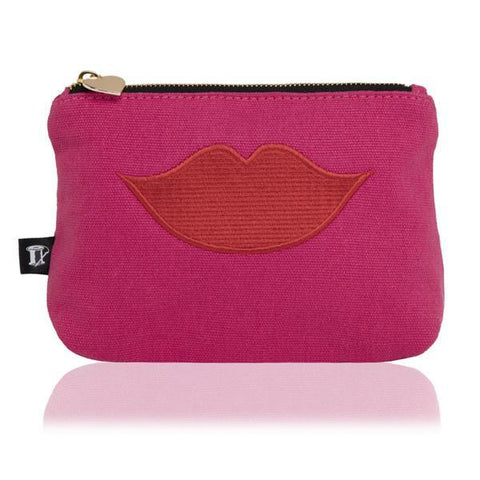 Luscious Lips Pouch in Pink