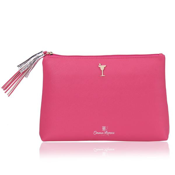Sailors' Delight Pink Leather Clutch