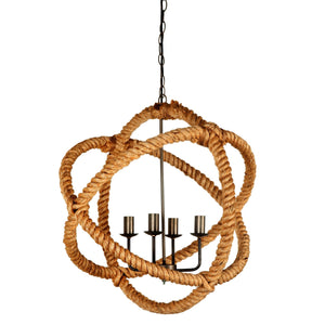 Amberg - Rope covered Hanging Light