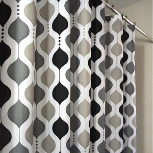 Moroccan Wave Shower Curtains Black