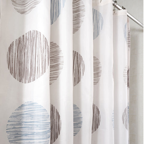 Sunset Circles Shower Curtains
