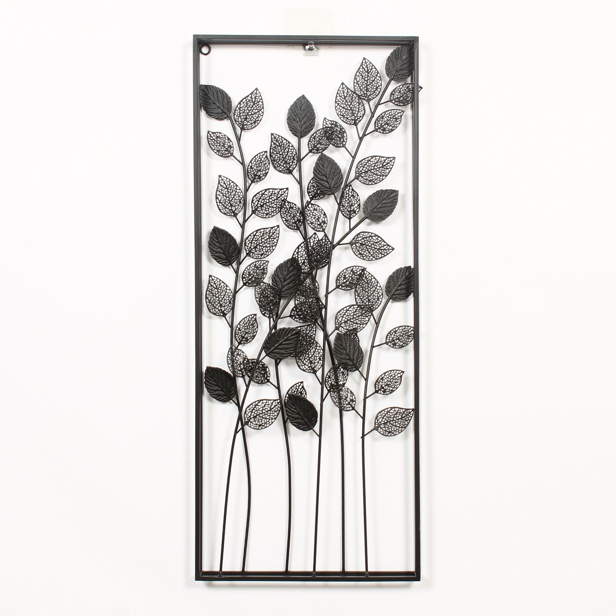 LEAFY TREES METAL WALL ART WITH FRAME