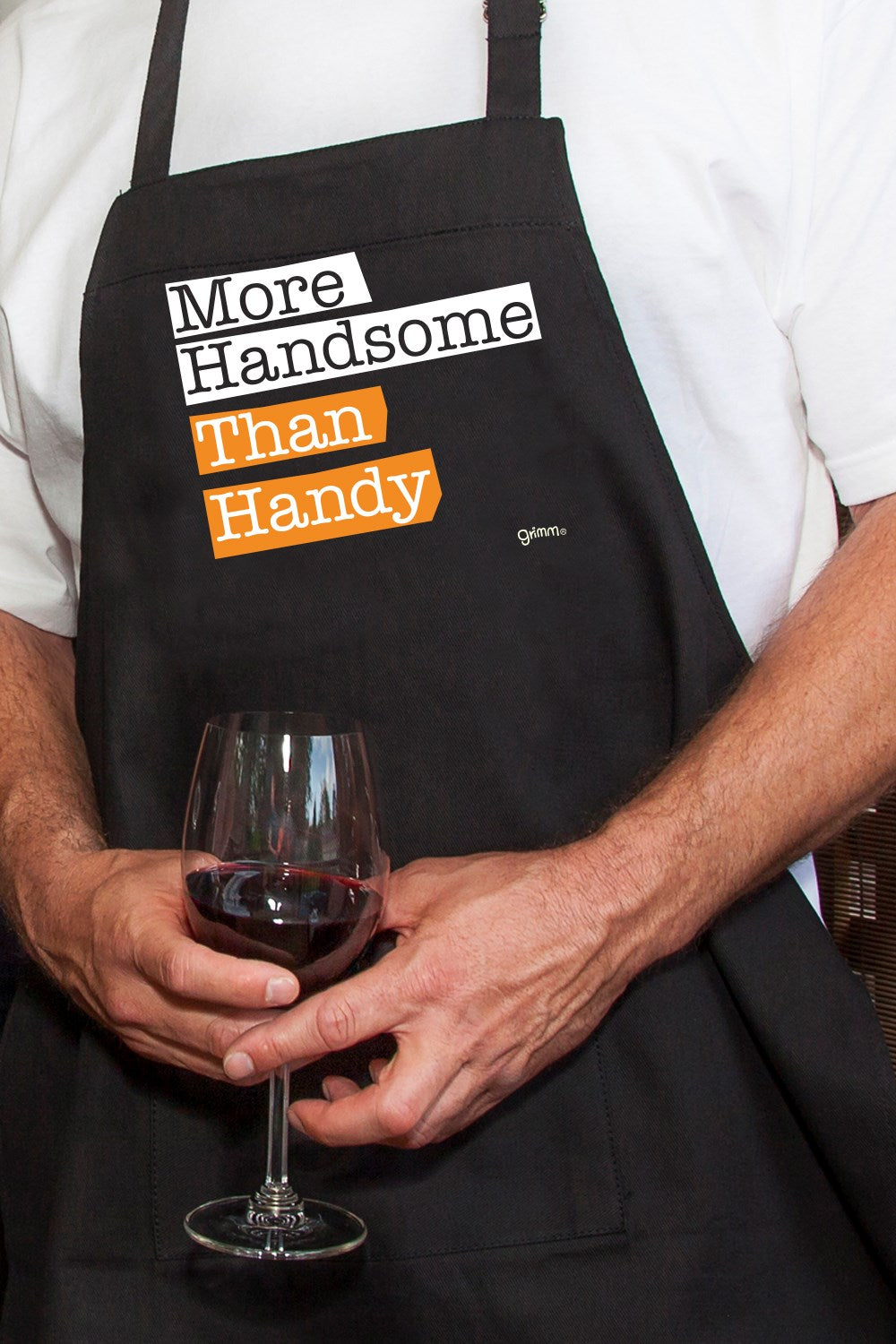 More Handsome... . Apron BLACK