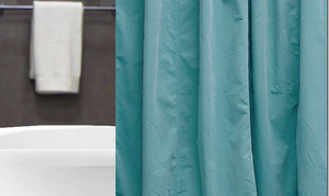 Shower Curtain Twill - Teal