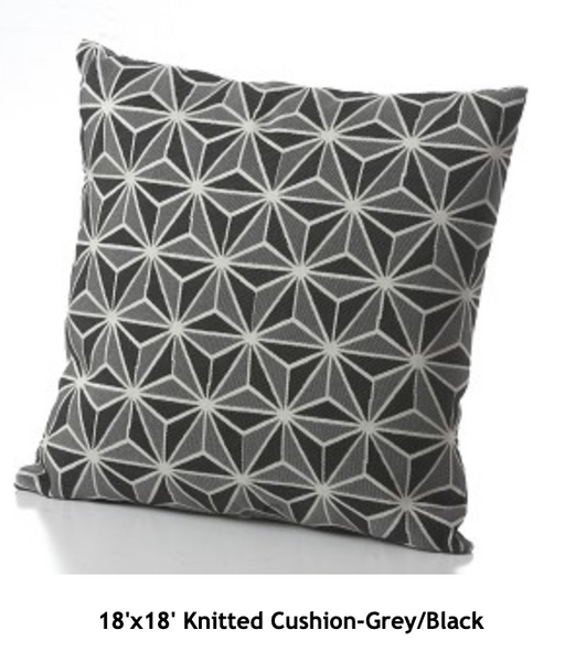 Knitted Cushion-Grey