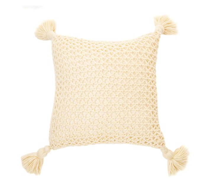 SHIVA NATURAL KNITTED CUSHION