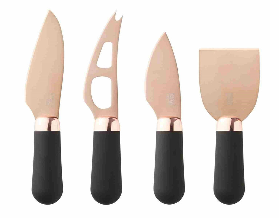 4pc Brooklyn Cheese Knife - Rose Gold Tip