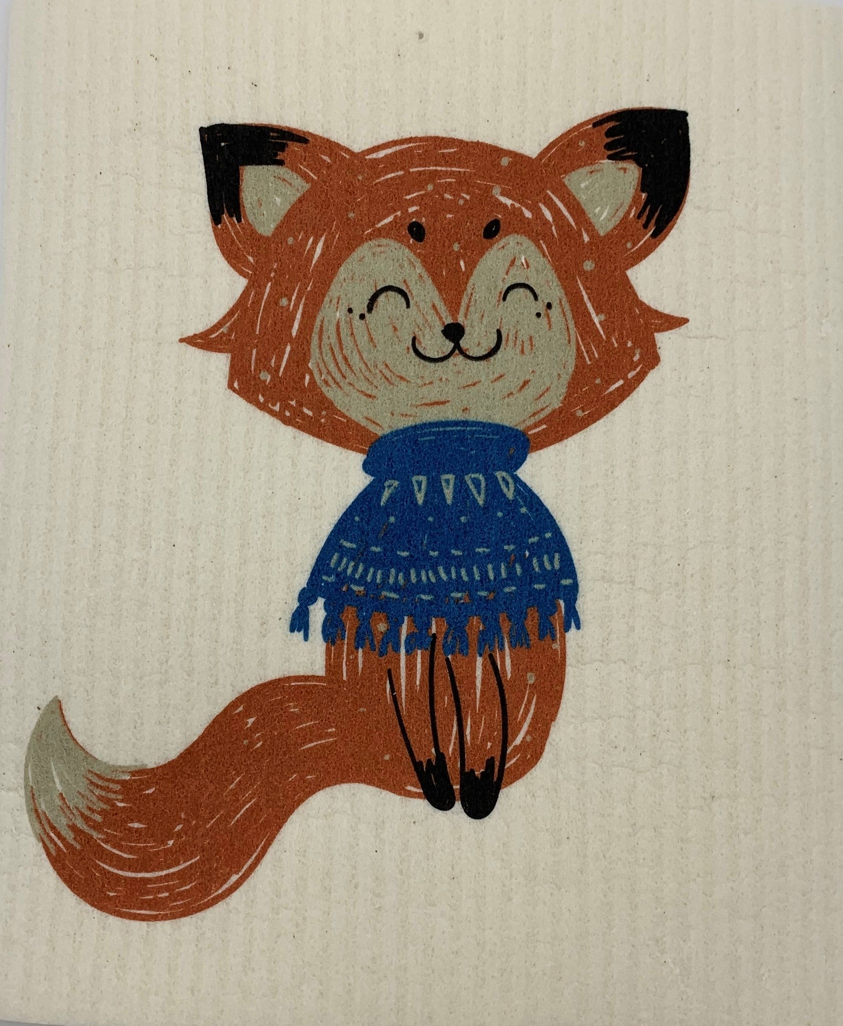 Fox with Scarf Swedish Cloth