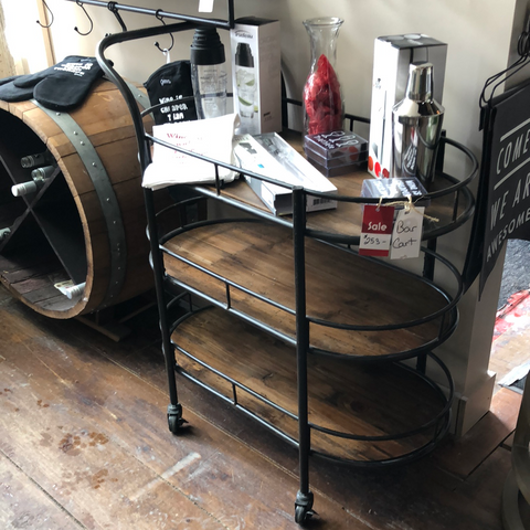 Reachalle - Metal /Wood Bar Cart
