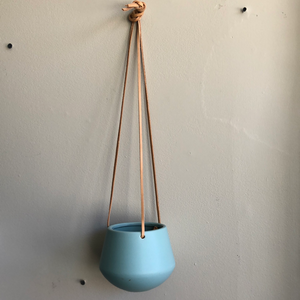 "Leather Hanging 5"" blue"