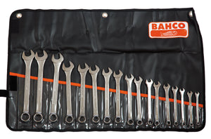Spanner set, combination ring & open end, metric, 17 pcs -  6, 7, 8, 9, 10, 11, 12, 13, 14, 15, 16, 17, 18, 19, 20, 21, 22mm