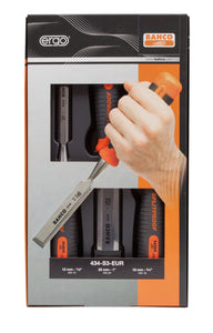 Chisel set, 3 piece - 12, 18 & 25mm - Best, splitproof handle