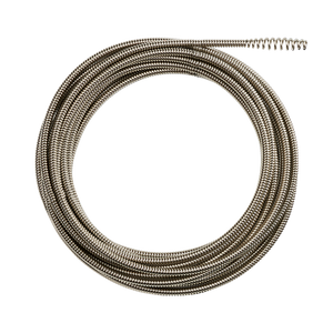 M12 Drain Snake cable 7.9mm x 7.6m Bulb Head Cable