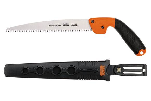Pruning saw, hardpoint, plastic handle, JS toothing, open style holster