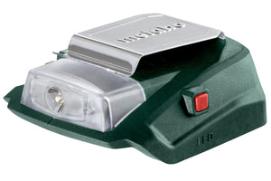 Metabo  14.4/18 V Power Adapter with 12 V Connection PA 14.4-18 LED-USB