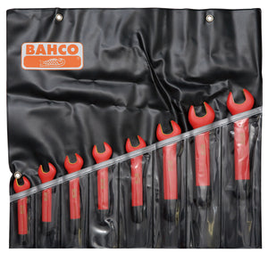 Open End Spanner Set, insulated to 1000v, 8 pieces.  Sizes:  10, 11, 12, 13, 14, 17, 18 & 19mm