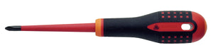 ERGO handled Slim Line 1000v insulated screwdriver -Phillips Head PH1 - blade length 80mm