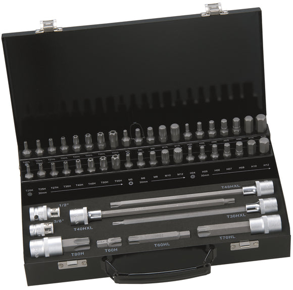 49 piece 10mm Socket & Bit Set in various profiles