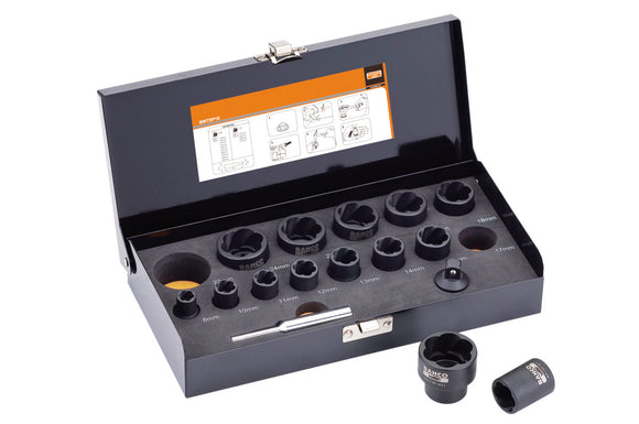 Twist Socket Set 16 piece, 3/8