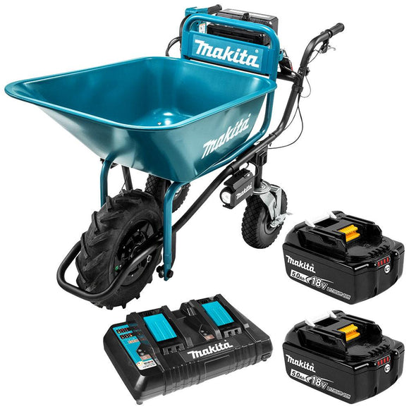 Makita 18Vx2 BRUSHLESS Wheelbarrow with bucket (198494-2)