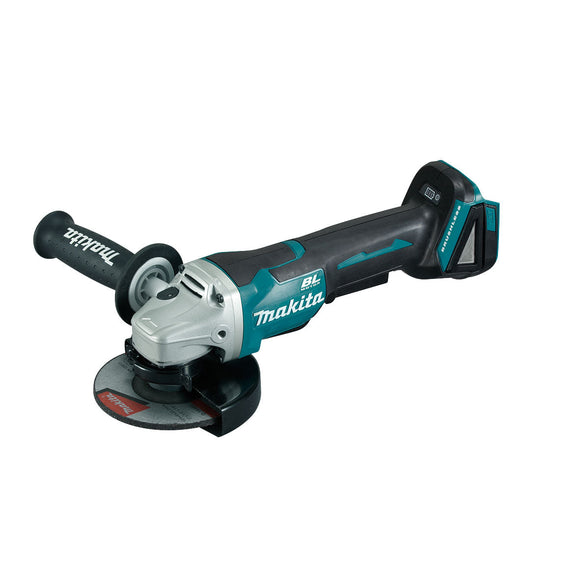 Makita 18V BRUSHLESS 125mm Angle Grinder, Paddle Switch, Kick Back Detection - Tool Only