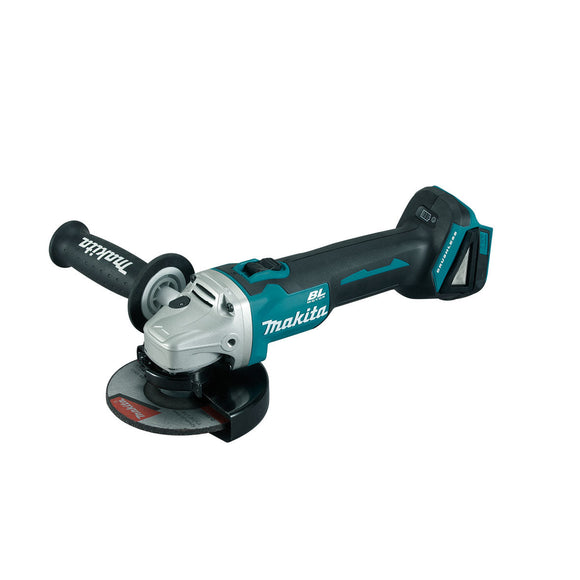 Makita 18V BRUSHLESS 125mm Angle Grinder, Slide Switch, Kick Back Detection, Electric Brake - Tool Only