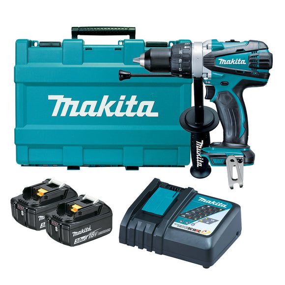 Makita 18V Heavy Duty Hammer Driver Drill Kit